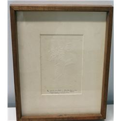 Framed  Birth of a Palm  (Ltd. Ed. 2 of 10), Signed, Presented to Jim Nabors on New Home, 1980