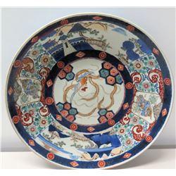 Round Imari Handpainted Porcelain Plate