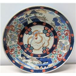 "Round Imari Handpainted Porcelain Plate 18"" Dia."