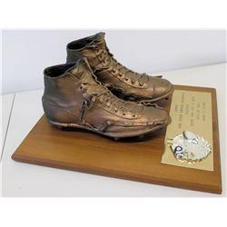 Shoes on Wood Plaque Presented to Jim Nabors from Johnny Unitas, Inscripted by 'John & Sandy'