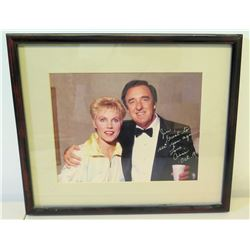 """Framed Anne Murray Authographed Photo to Jim Nabors, 1987 (14.5"""" x 12"""")"""