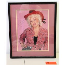 """Framed Dolly Parton Authographed Photo to Jim Nabors, 1981 (18.5"""" x 15"""")"""