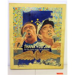 """2014 Indianapolis Motor Speedway Jim Nabors Giclee Canvas by Rob Burton, Lt. Ed 5 of 14 (30"""" x 36"""")"""