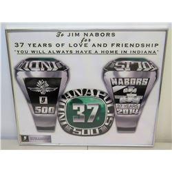 "Framed Indianapolis Motor Speedway Award Memorabilia Presented to Jim Nabors, 24"" x 20"""
