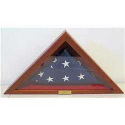 USA Flag Presented to Jim Nabors from University of Alabama, 2006