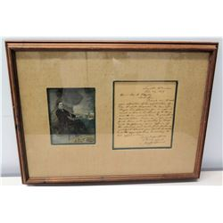 Framed Original 1839 Letter Signed by Jefferson Davis, COA, 25  x 19