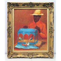 "Framed Original Painting on Canvas, Signed, R. Nava 24"" x 30"""