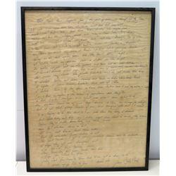 Framed Handwritten Letter from June Carter Cash, To Jim Nabors, 1971