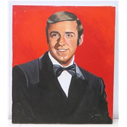 Original Painting of Jim Nabors by Artist Harnack, Signed, Stretched Canvas 30  x 26