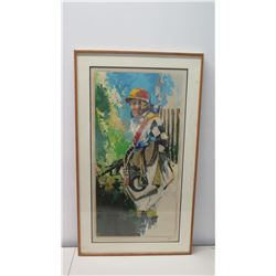 Framed & Signed Giclee Painting, Polo Player, (Ltd. Ed. 160 of 300) 26  x 44.5