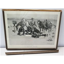Limited Edition Art by Frederic Remington 'Big Horn Basin' 25/1500, Presented to Jim Nabors