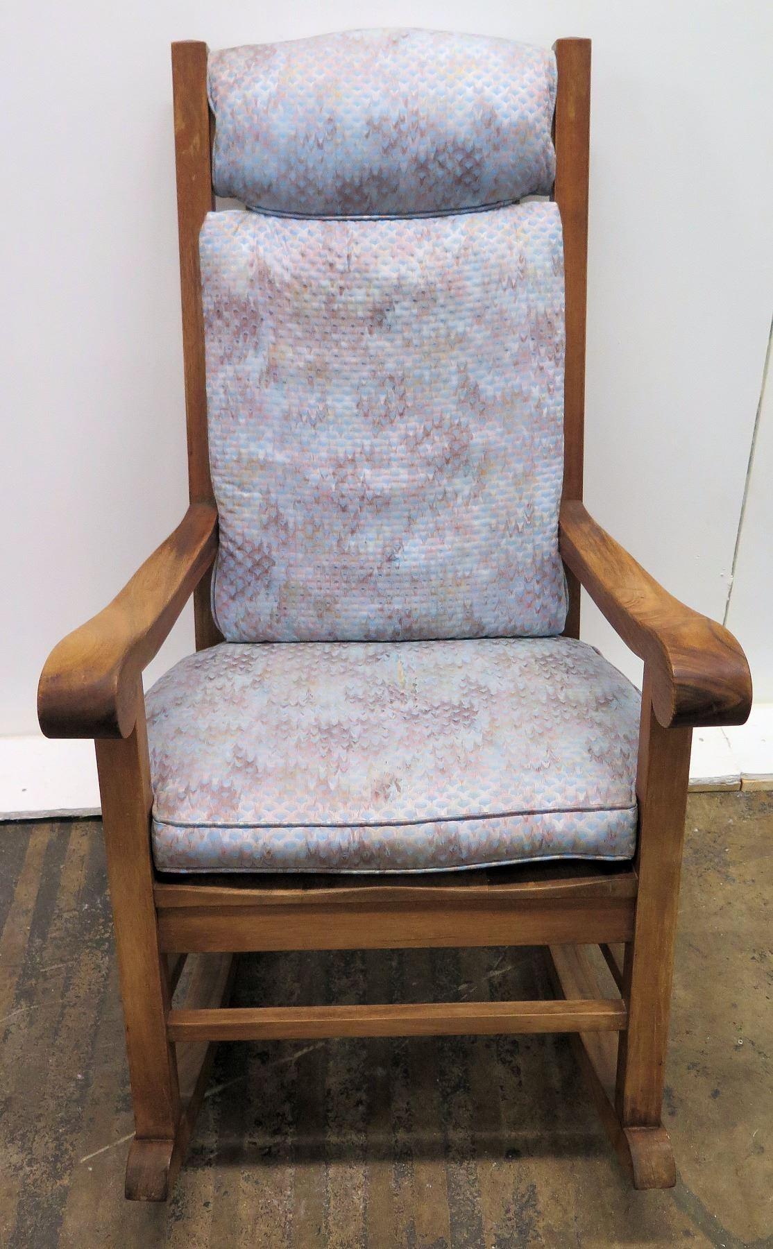 Magnificent Koa Wood Rocking Chair W Scroll Armrests By Martin Machost Co Dining Chair Design Ideas Machostcouk