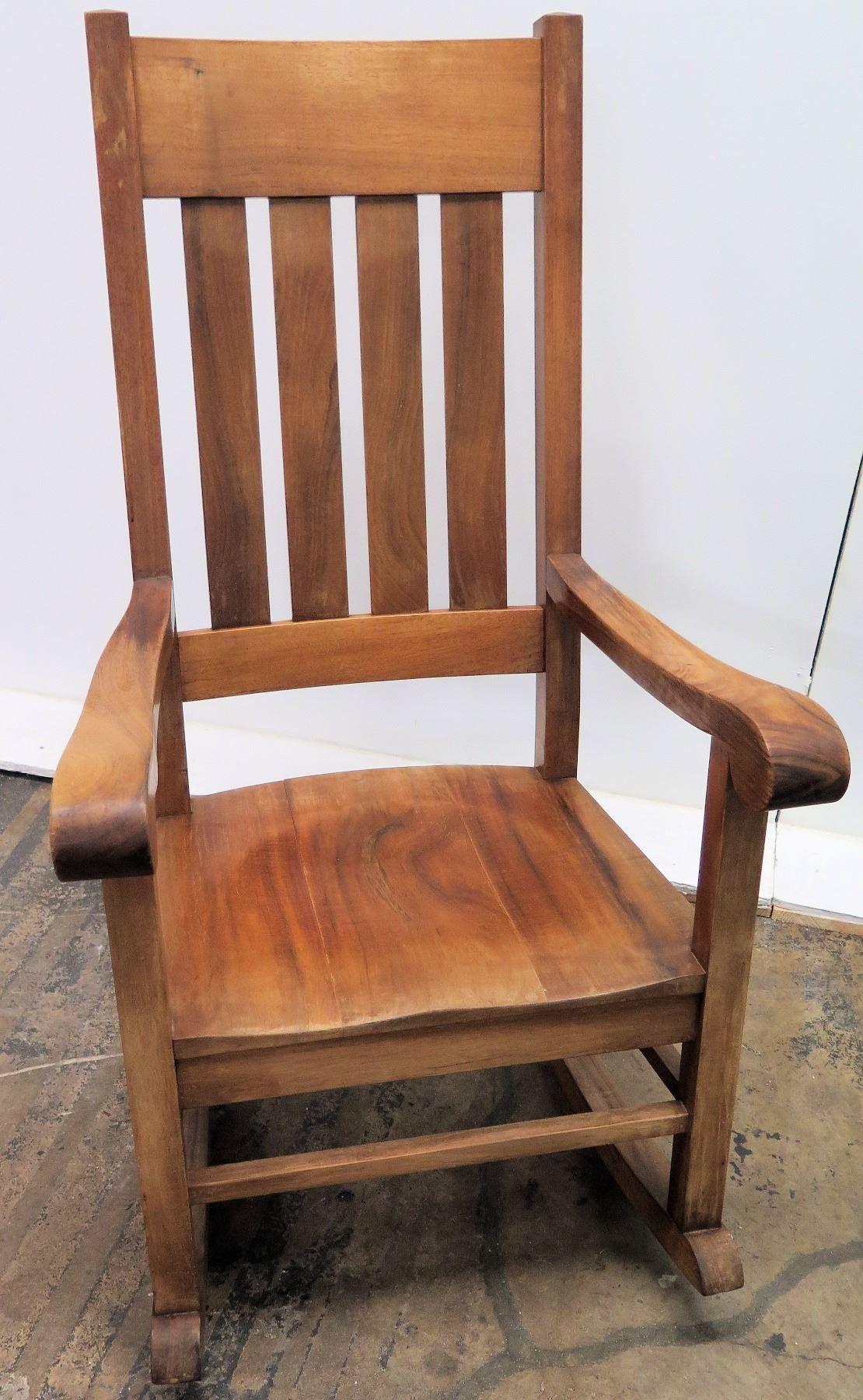 Pleasant Koa Wood Rocking Chair W Scroll Armrests By Martin Machost Co Dining Chair Design Ideas Machostcouk