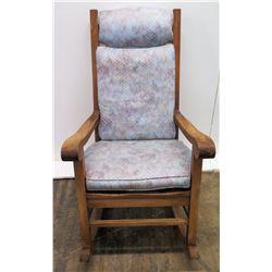 Koa Wood Rocking Chair w/ Scroll Armrests (by Martin & McArthur)