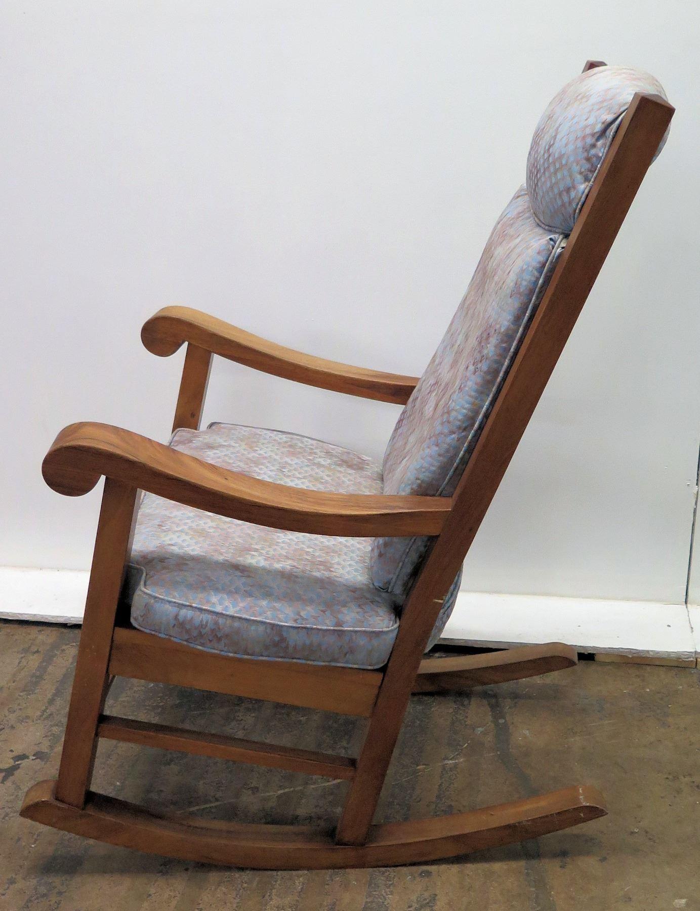 Miraculous Koa Wood Rocking Chair W Scroll Armrests By Martin Machost Co Dining Chair Design Ideas Machostcouk