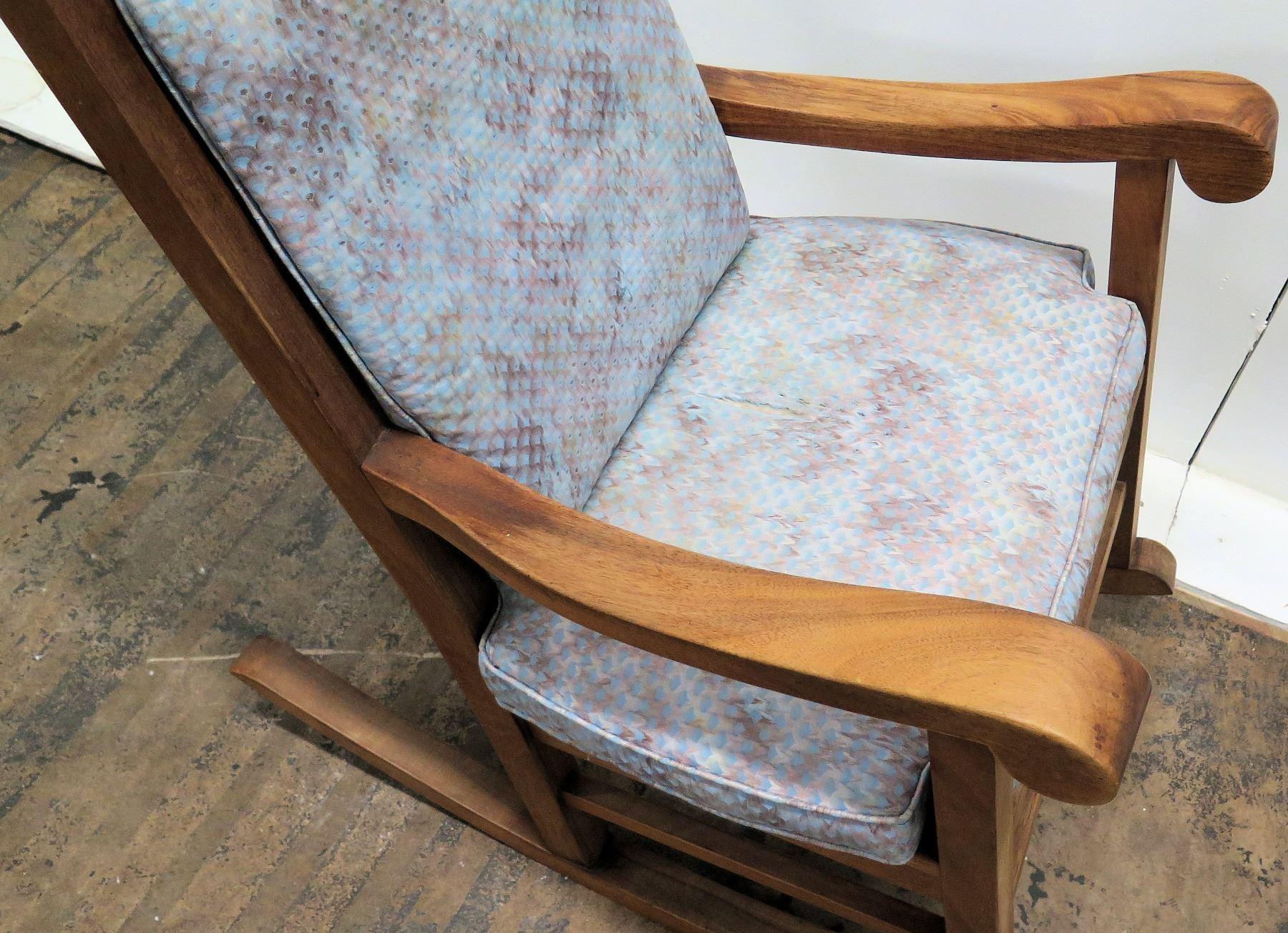 Enjoyable Koa Wood Rocking Chair W Scroll Armrests By Martin Machost Co Dining Chair Design Ideas Machostcouk