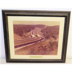 "Framed Photograph of 'Jim Nabors Highway' 28.5"" x 24"""