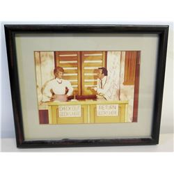 Framed Jim Nabors Photograph, Signed, Miss Marian to Prof. Hil