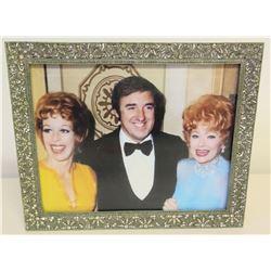 Framed Photograph of Jim Nabors, Carol Burnett, Lucille Ball