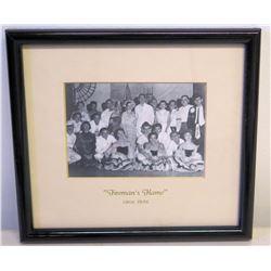 "Framed Black & White Photo - ""Fireman's Flame"" Cast (circa 1956)"