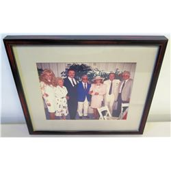 Framed Photograph: Jim Nabors, Burt Reynolds, Loni Anderson, etc.