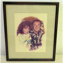 Framed Photograph of Jim Nabors and Loretta Lynn
