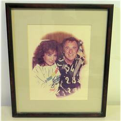 Framed Photograph of Jim Nabors and Loretta Lynn