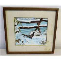 Framed Original Canvas Painting, Artist Harnack