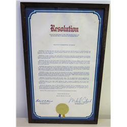 Jim Nabors Achievement  Resolution from Honorable Robert Cline