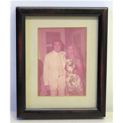 Framed Photograph of Jim Nabors and Female Celebrity?