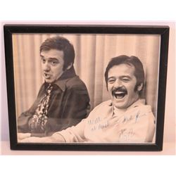 Framed Signed Photograph of Jim Nabors and Robert Goulet