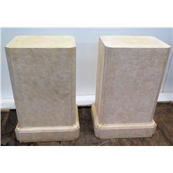 "Pair of Rectangular Block Stands, Approx. 29"" Tall"