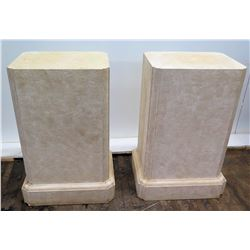 "Pair of Rectangular Block Stands (Synthetic Material), Approx. 29"" Tall"
