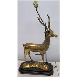 Brass Deer Lamp (no lamp shade)
