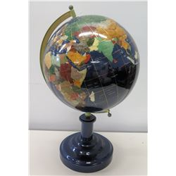 "Globe with Inlaid Details 21.5""H"