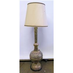 "Tall Buffet Lamp with Filigree Detail, (approx. 66""H to top of shade)"