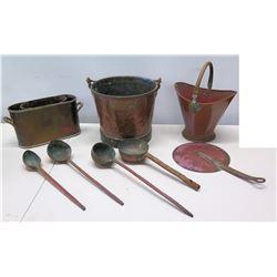 Misc. Brass/Copper? Baskets, Buckets, etc.