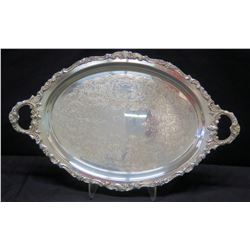 "Large Serving Platter, ""Baroque"" by Wallace"