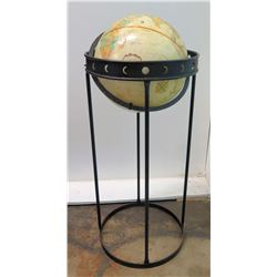 "Globe on Tall Metal Stand, 33"" H"
