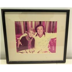 Framed Autographed Photo of Joan Rivers (with Jim Nabors), 1977