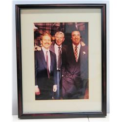 Framed Photograph of Jim Nabors, Andy Griffith, Ron Howard
