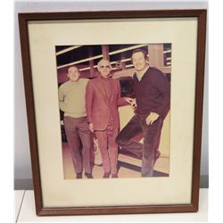 Framed Photograph of Jim Nabors with Robert Goulet