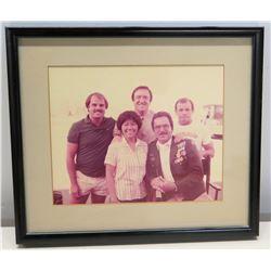 Framed Photograph of Jim Nabors, Burt Reynolds, etc.