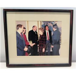 Framed Photograph of Ronald Reagan & Nancy Reagan w/ JimNabors