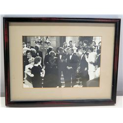 Framed Black & White Photograph of Hollywood Celebrities
