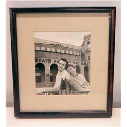 Framed Black & White Photograph of Jim Nabors & Carol Burnett