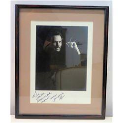 Framed Autographed Black & White Photograph of Burt Reynolds