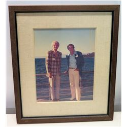 Framed Photograph of Jim Nabors and Male Friend