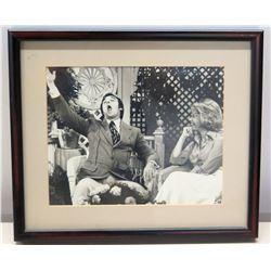 Framed Black & White Photograph of Jim Nabors & Dinah Shore