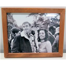 Framed Black & White Photograph of Jim Nabors with Terre Thomas